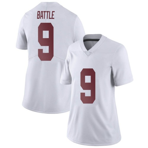 Women's Nike Jordan Battle Alabama Crimson Tide Limited White Football College Jersey