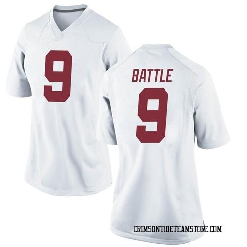 Women's Nike Jordan Battle Alabama Crimson Tide Replica White Football College Jersey