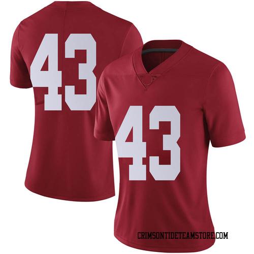 Women's Nike Jordan Smith Alabama Crimson Tide Limited Crimson Football College Jersey