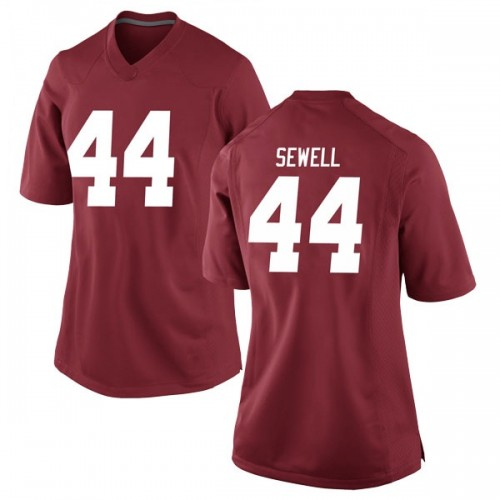 Women's Nike Joseph Sewell Alabama Crimson Tide Game Crimson Football College Jersey