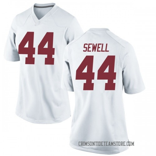 Women's Nike Joseph Sewell Alabama Crimson Tide Replica White Football College Jersey