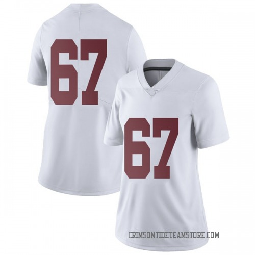 Women's Nike Joshua Casher Alabama Crimson Tide Limited White Football College Jersey