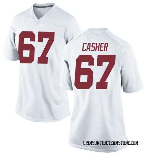 Women's Nike Joshua Casher Alabama Crimson Tide Replica White Football College Jersey