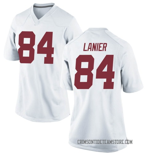 Women's Nike Joshua Lanier Alabama Crimson Tide Replica White Football College Jersey