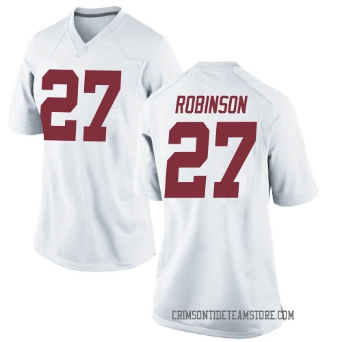 Women's Nike Joshua Robinson Alabama Crimson Tide Replica White Football College Jersey