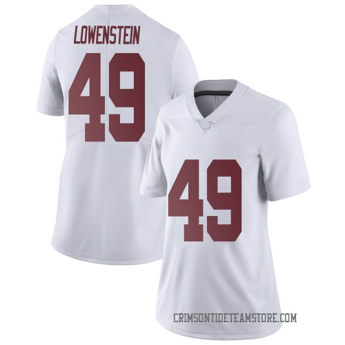 Women's Nike Julian Lowenstein Alabama Crimson Tide Limited White Football College Jersey