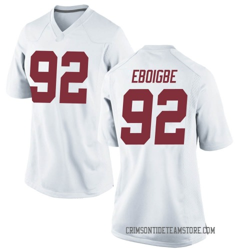 Women's Nike Justin Eboigbe Alabama Crimson Tide Game White Football College Jersey