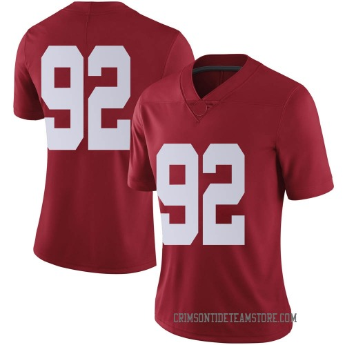 Women's Nike Justin Eboigbe Alabama Crimson Tide Limited Crimson Football College Jersey
