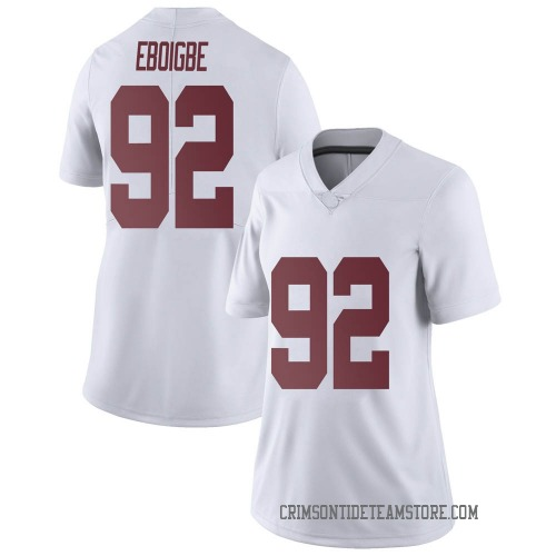 Women's Nike Justin Eboigbe Alabama Crimson Tide Limited White Football College Jersey