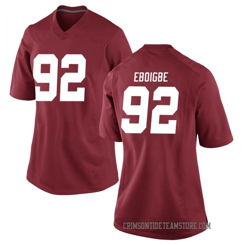 Women's Nike Justin Eboigbe Alabama Crimson Tide Replica Crimson Football College Jersey