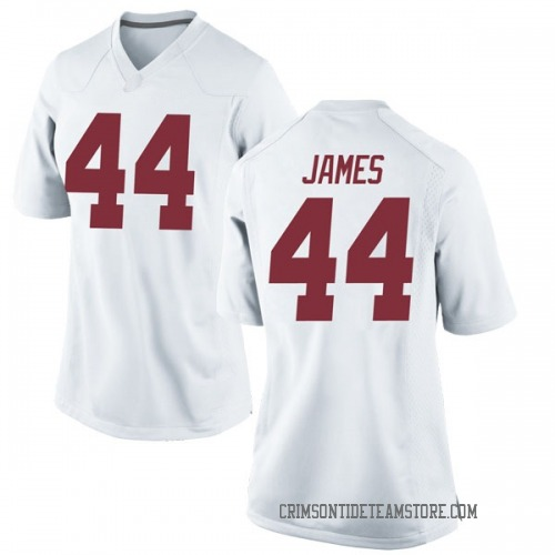 Women's Nike Kedrick James Alabama Crimson Tide Replica White Football College Jersey