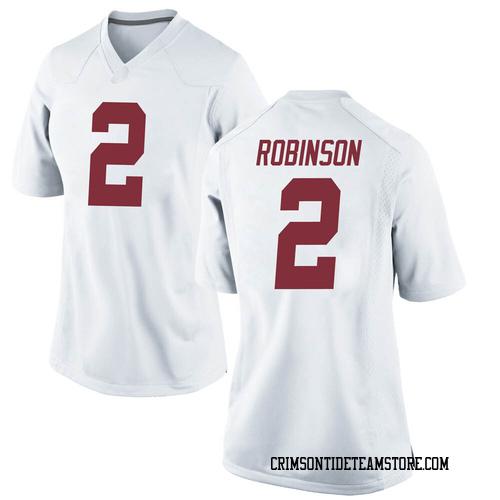 Women's Nike Keilan Robinson Alabama Crimson Tide Replica White Football College Jersey