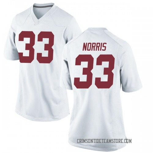 Women's Nike Kendall Norris Alabama Crimson Tide Replica White Football College Jersey