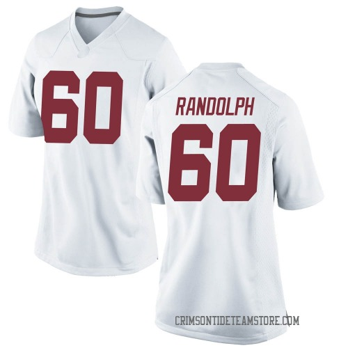 Women's Nike Kendall Randolph Alabama Crimson Tide Replica White Football College Jersey