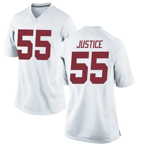 Women's Nike Kevin Justice Alabama Crimson Tide Game White Football College Jersey