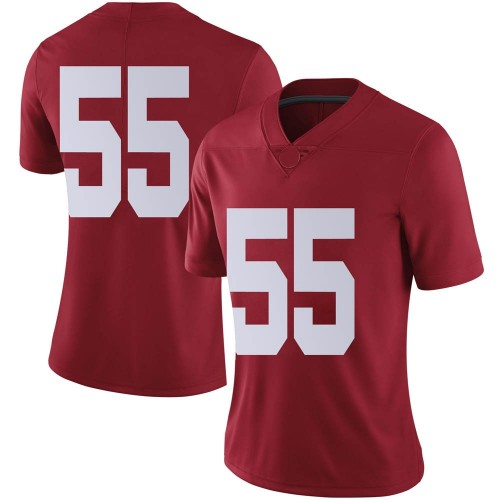 Women's Nike Kevin Justice Alabama Crimson Tide Limited Crimson Football College Jersey