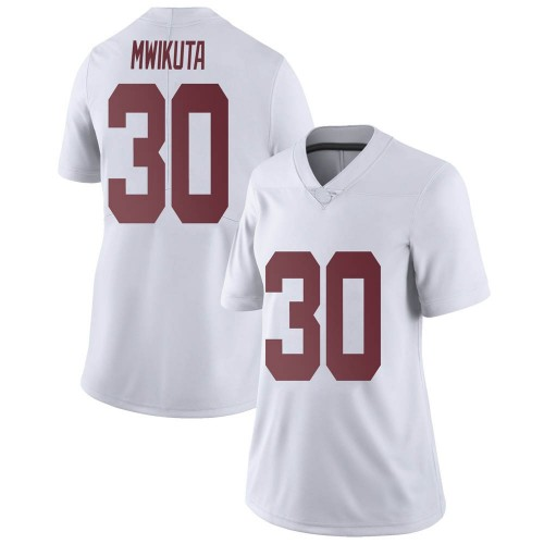 Women's Nike King Mwikuta Alabama Crimson Tide Limited White Football College Jersey