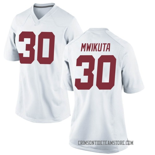 Women's Nike King Mwikuta Alabama Crimson Tide Replica White Football College Jersey