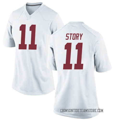 Women's Nike Kristian Story Alabama Crimson Tide Game White Football College Jersey