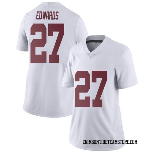 Women's Nike Kyle Edwards Alabama Crimson Tide Limited White Football College Jersey