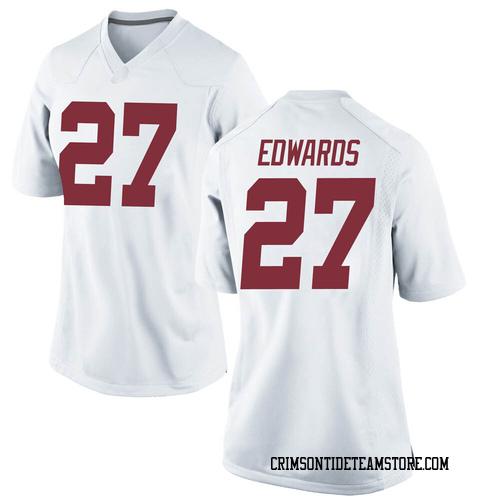Women's Nike Kyle Edwards Alabama Crimson Tide Replica White Football College Jersey