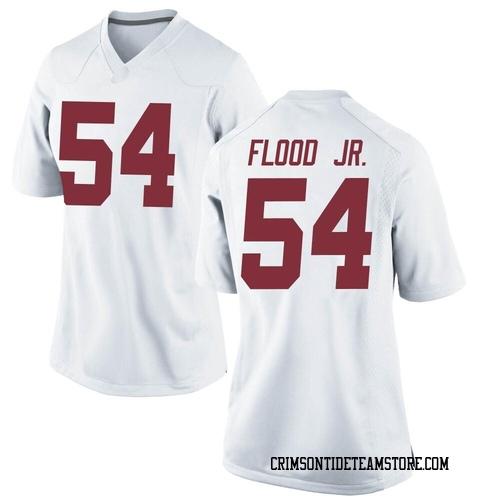 Women's Nike Kyle Flood Jr. Alabama Crimson Tide Replica White Football College Jersey