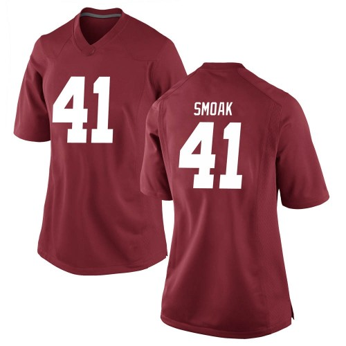 Women's Nike Kyle Smoak Alabama Crimson Tide Game Crimson Football College Jersey