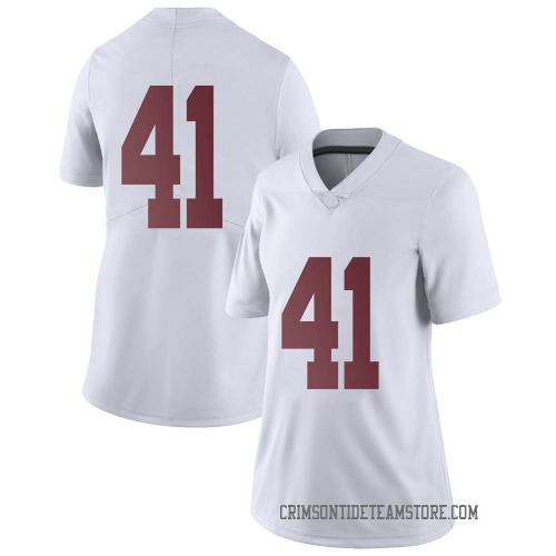 Women's Nike Kyle Smoak Alabama Crimson Tide Limited White Football College Jersey