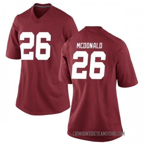 Women's Nike Kyriq McDonald Alabama Crimson Tide Game Crimson Football College Jersey