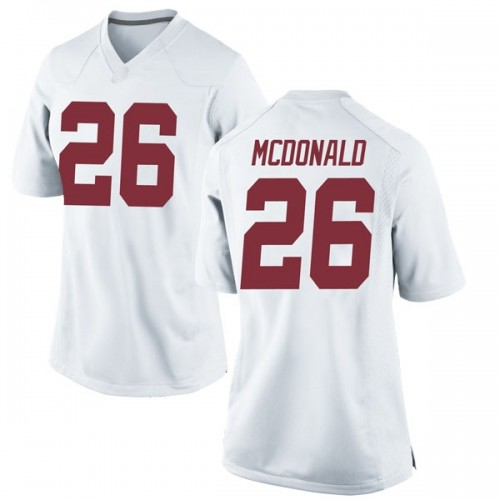Women's Nike Kyriq McDonald Alabama Crimson Tide Game White Football College Jersey