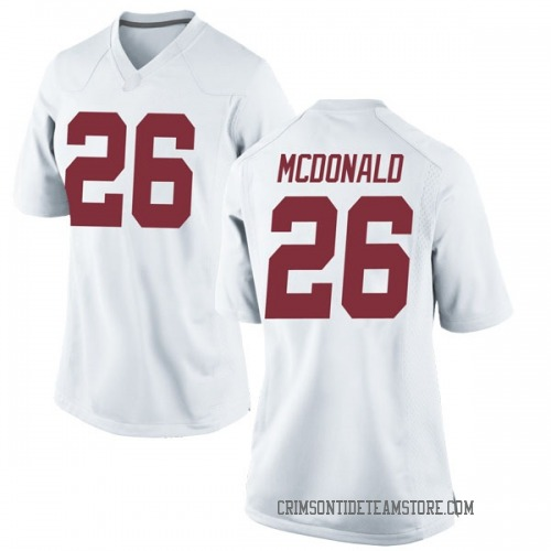 Women's Nike Kyriq McDonald Alabama Crimson Tide Replica White Football College Jersey