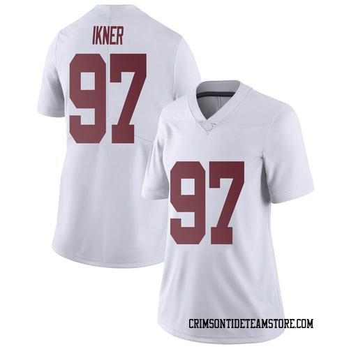 Women's Nike LT Ikner Alabama Crimson Tide Limited White Football College Jersey
