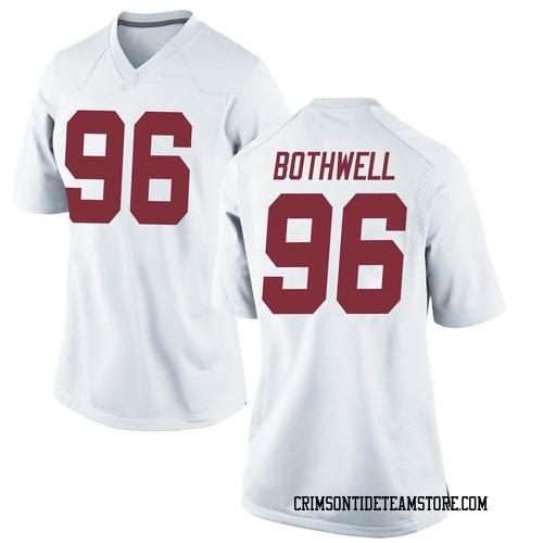 Women's Nike Landon Bothwell Alabama Crimson Tide Replica White Football College Jersey