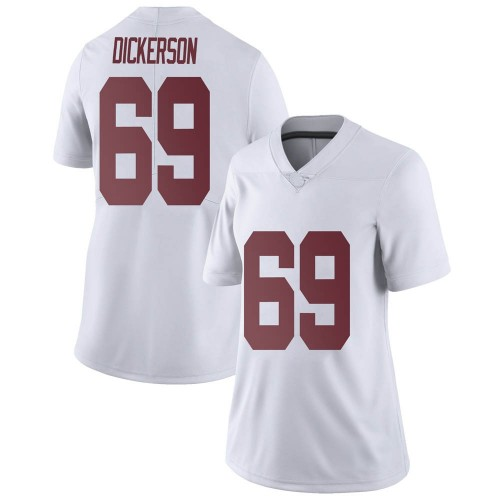Women's Nike Landon Dickerson Alabama Crimson Tide Limited White Football College Jersey