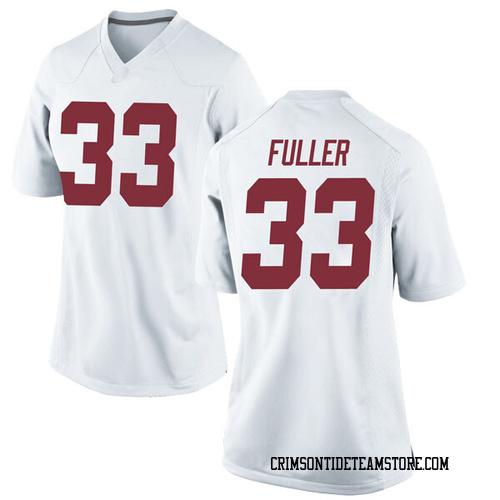 Women's Nike Landon Fuller Alabama Crimson Tide Game White Football College Jersey