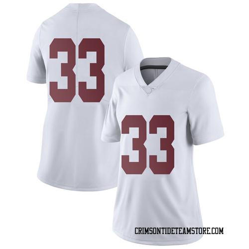 Women's Nike Landon Fuller Alabama Crimson Tide Limited White Football College Jersey