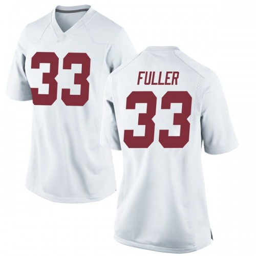 Women's Nike Landon Fuller Alabama Crimson Tide Replica White Football College Jersey