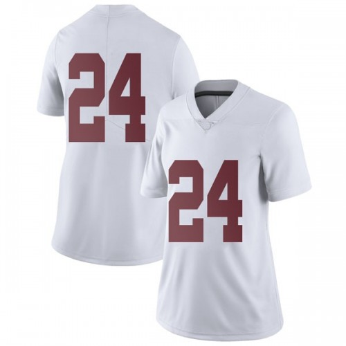 Women's Nike Lawson Schaffer Alabama Crimson Tide Limited White Football College Jersey