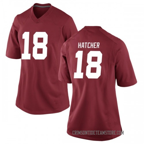Women's Nike Layne Hatcher Alabama Crimson Tide Game Crimson Football College Jersey