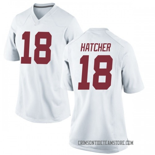Women's Nike Layne Hatcher Alabama Crimson Tide Replica White Football College Jersey