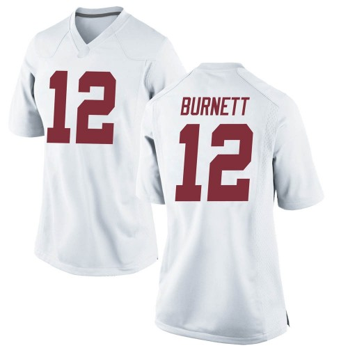 Women's Nike Logan Burnett Alabama Crimson Tide Game White Football College Jersey