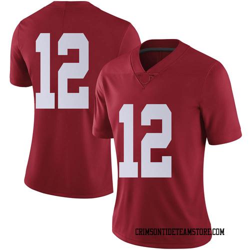 Women's Nike Logan Burnett Alabama Crimson Tide Limited Crimson Football College Jersey