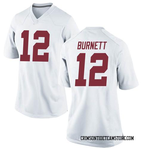 Women's Nike Logan Burnett Alabama Crimson Tide Replica White Football College Jersey