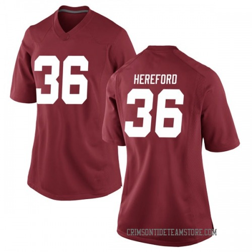 Women's Nike Mac Hereford Alabama Crimson Tide Game Crimson Football College Jersey