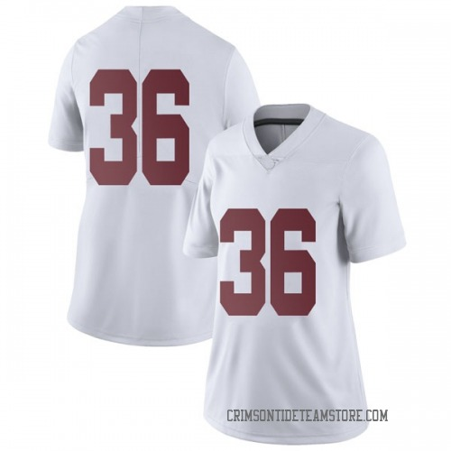 Women's Nike Mac Hereford Alabama Crimson Tide Limited White Football College Jersey