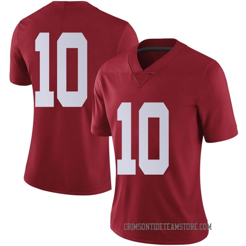 Women's Nike Mac Jones Alabama Crimson Tide Limited Crimson Football College Jersey