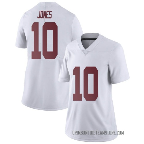 Women's Nike Mac Jones Alabama Crimson Tide Limited White Football College Jersey