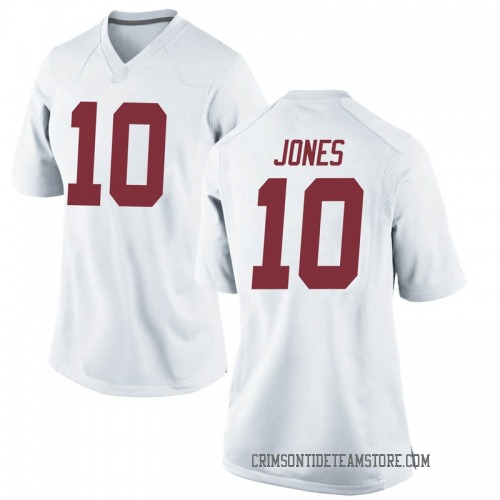 Women's Nike Mac Jones Alabama Crimson Tide Replica White Football College Jersey