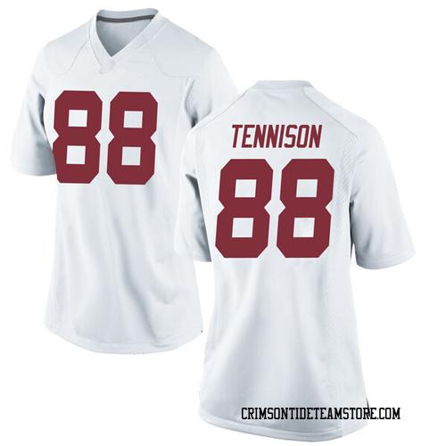 Women's Nike Major Tennison Alabama Crimson Tide Game White Football College Jersey