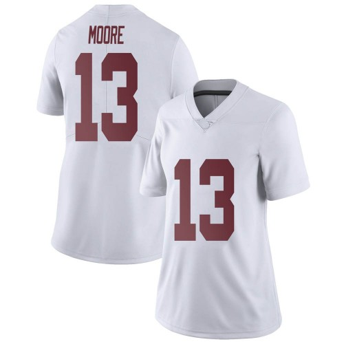 Women's Nike Malachi Moore Alabama Crimson Tide Limited White Football College Jersey